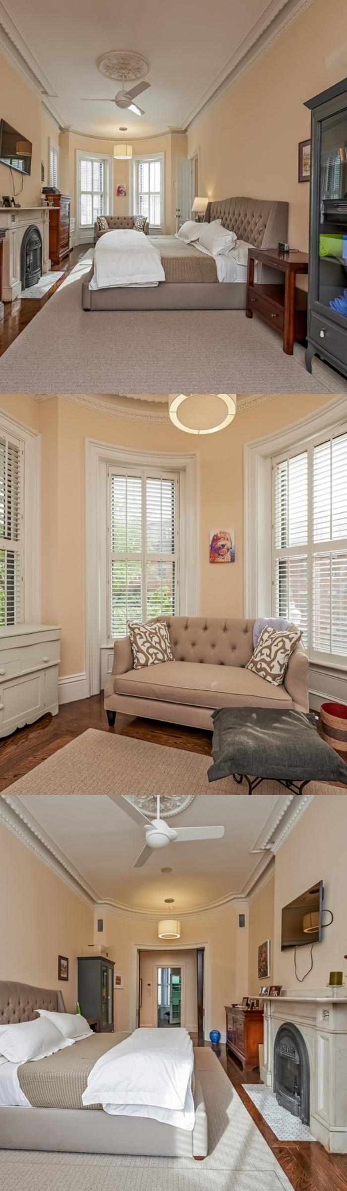 Floor to Ceiling Bay Window Bedroom