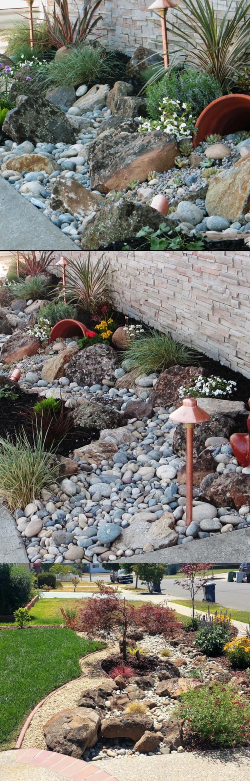 backyard landscape ideas with rock