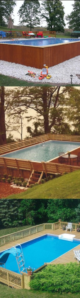 what to put around above ground pool