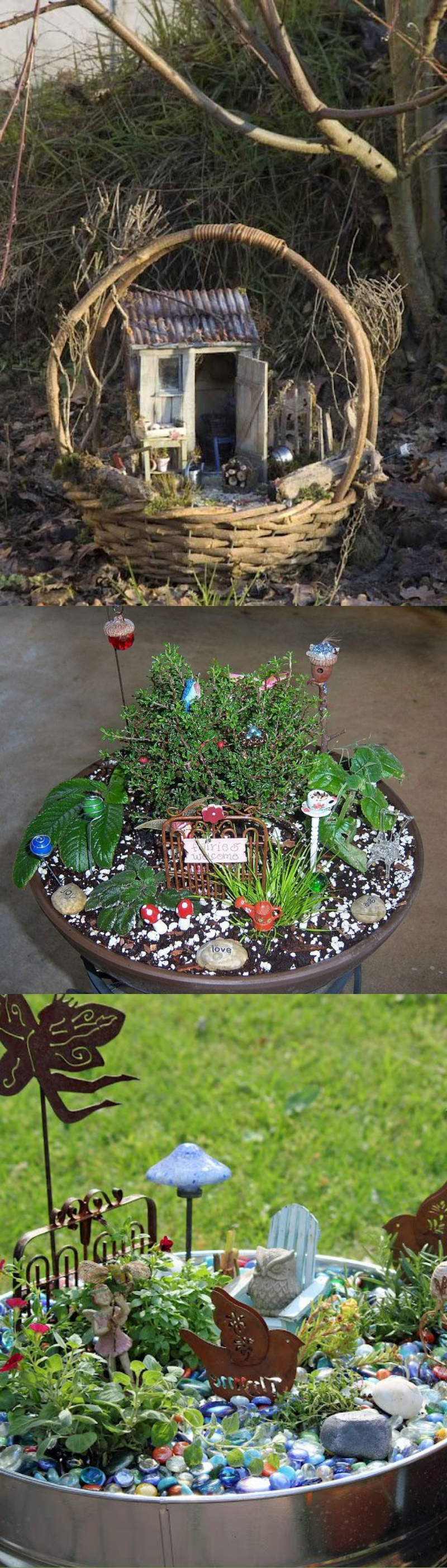 fairy garden container ideas