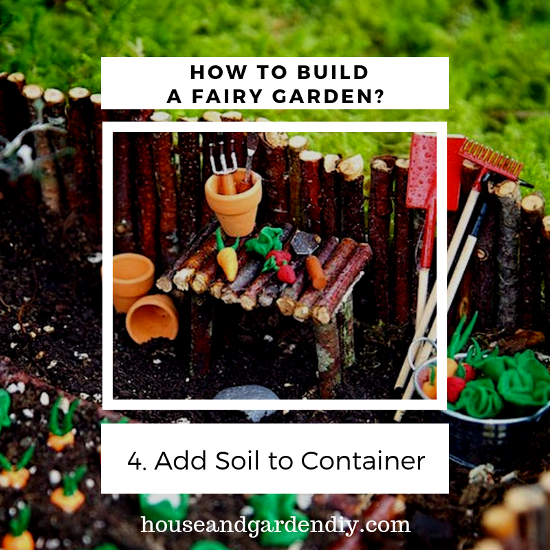 making fairy gardens from junk