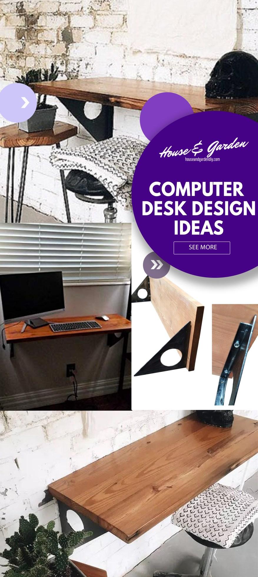 kitchen computer desk ideas
