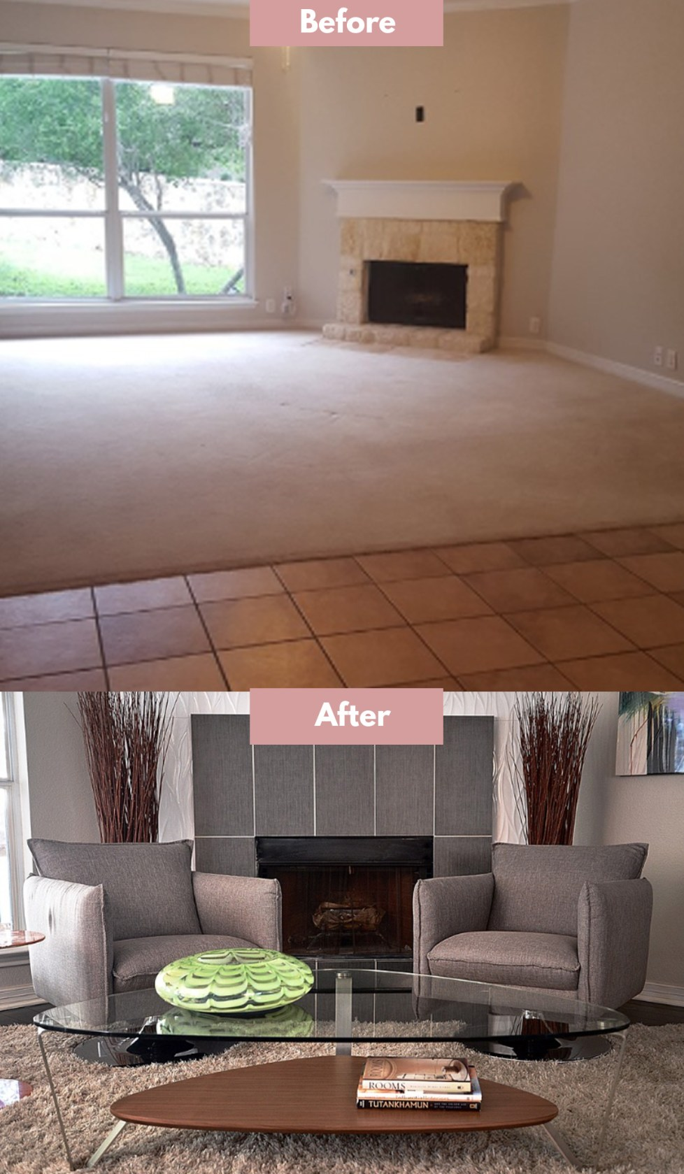 fireplace makeover cost
