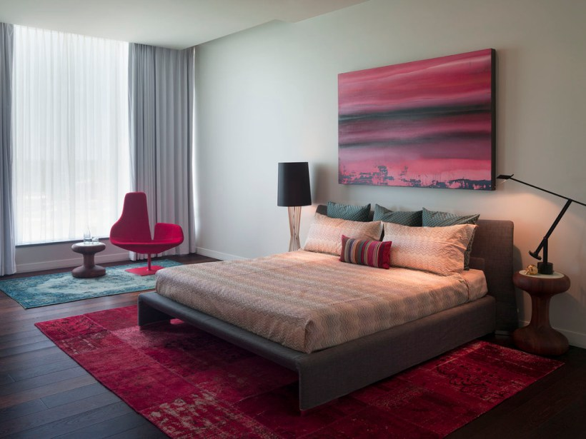Red Romantic room