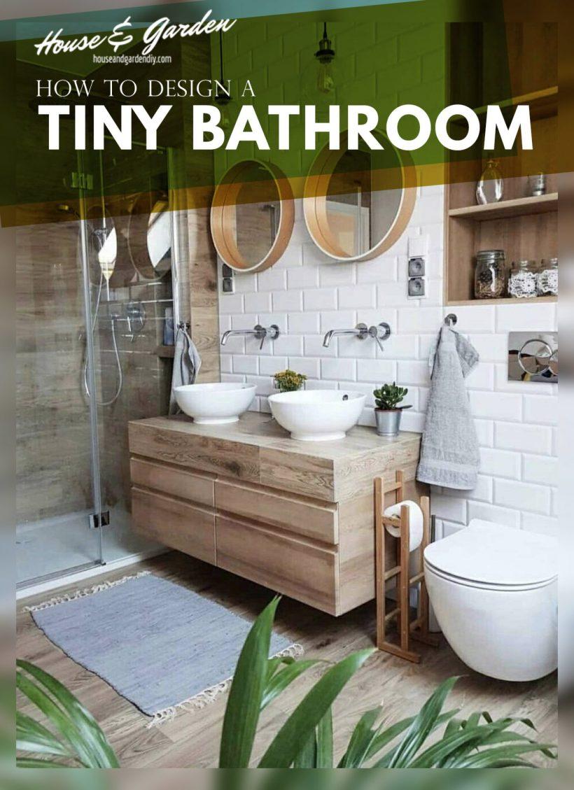 How to design a tiny Bathroom
