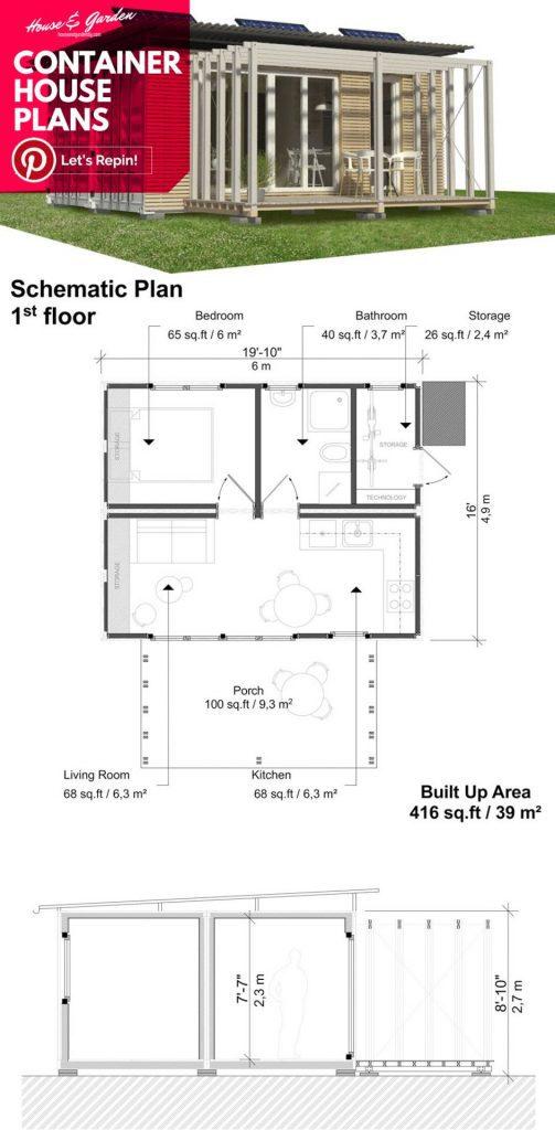 planos de la casa del contenedor