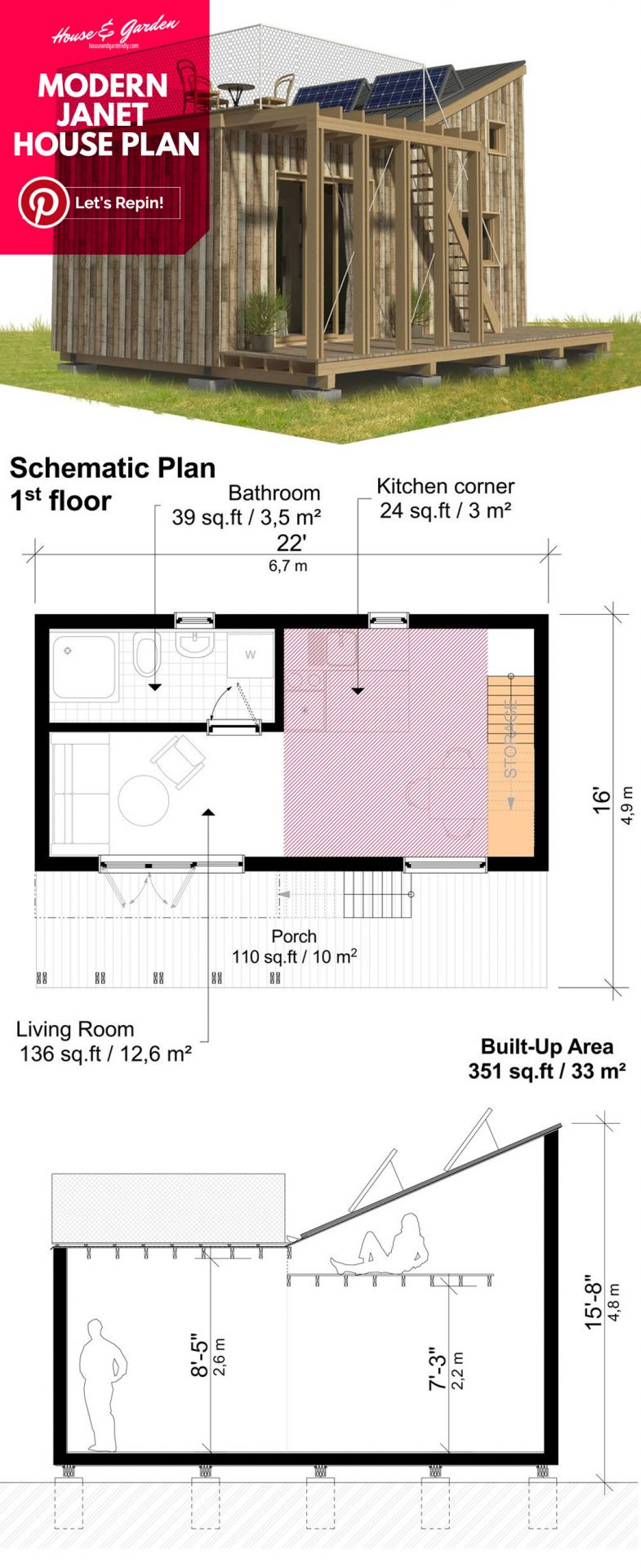 diseños de casas pequeñas y planos de planta