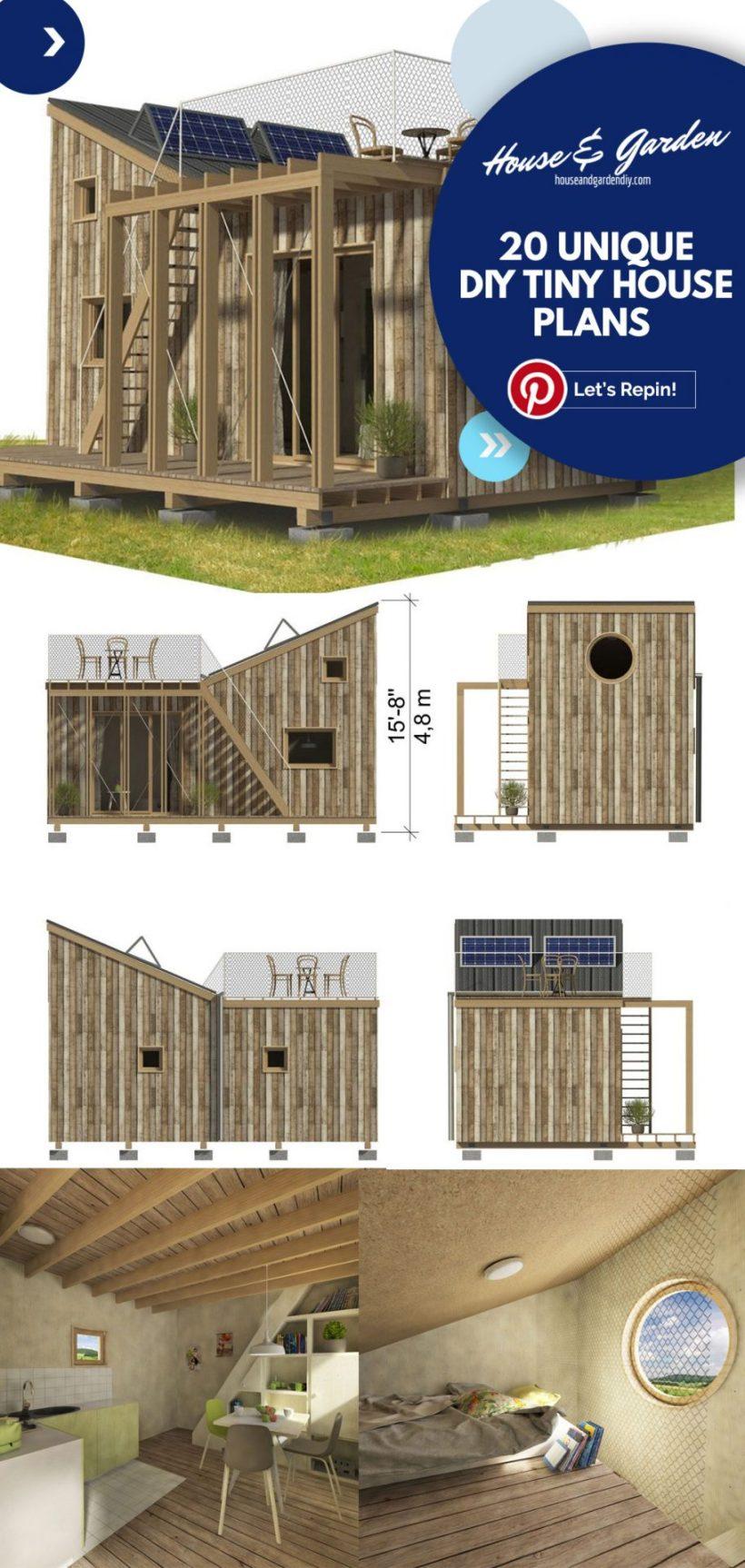 planos de casas pequeñas en el remolque