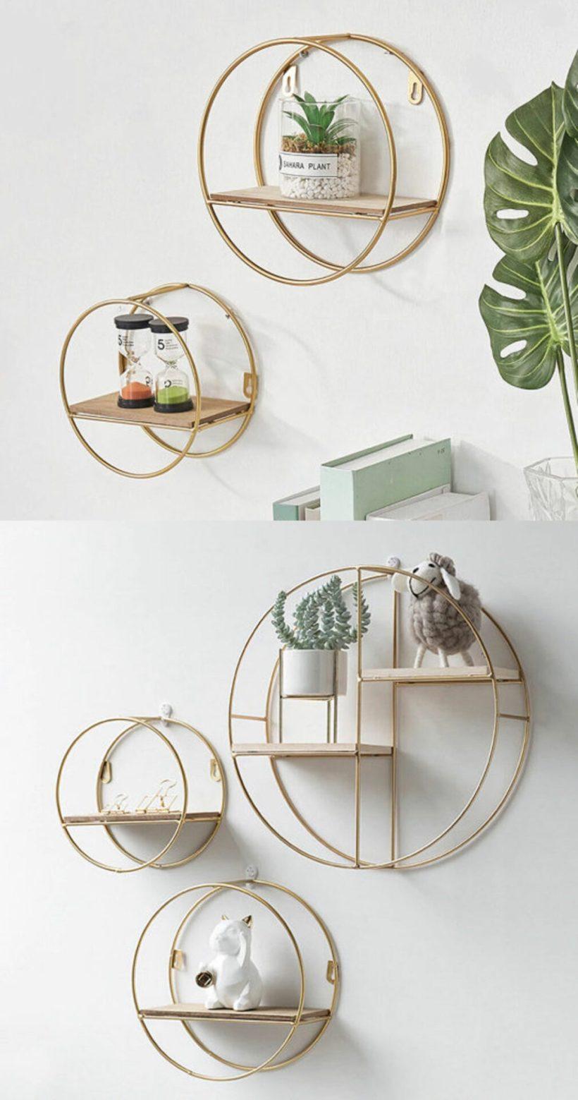 bedroom glass shelf