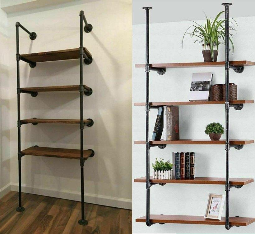 bedroom with shelf
