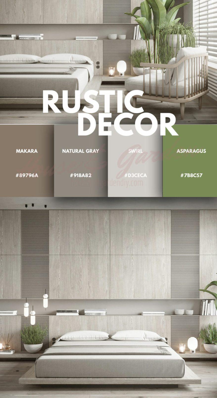 rustic grey bedroom set