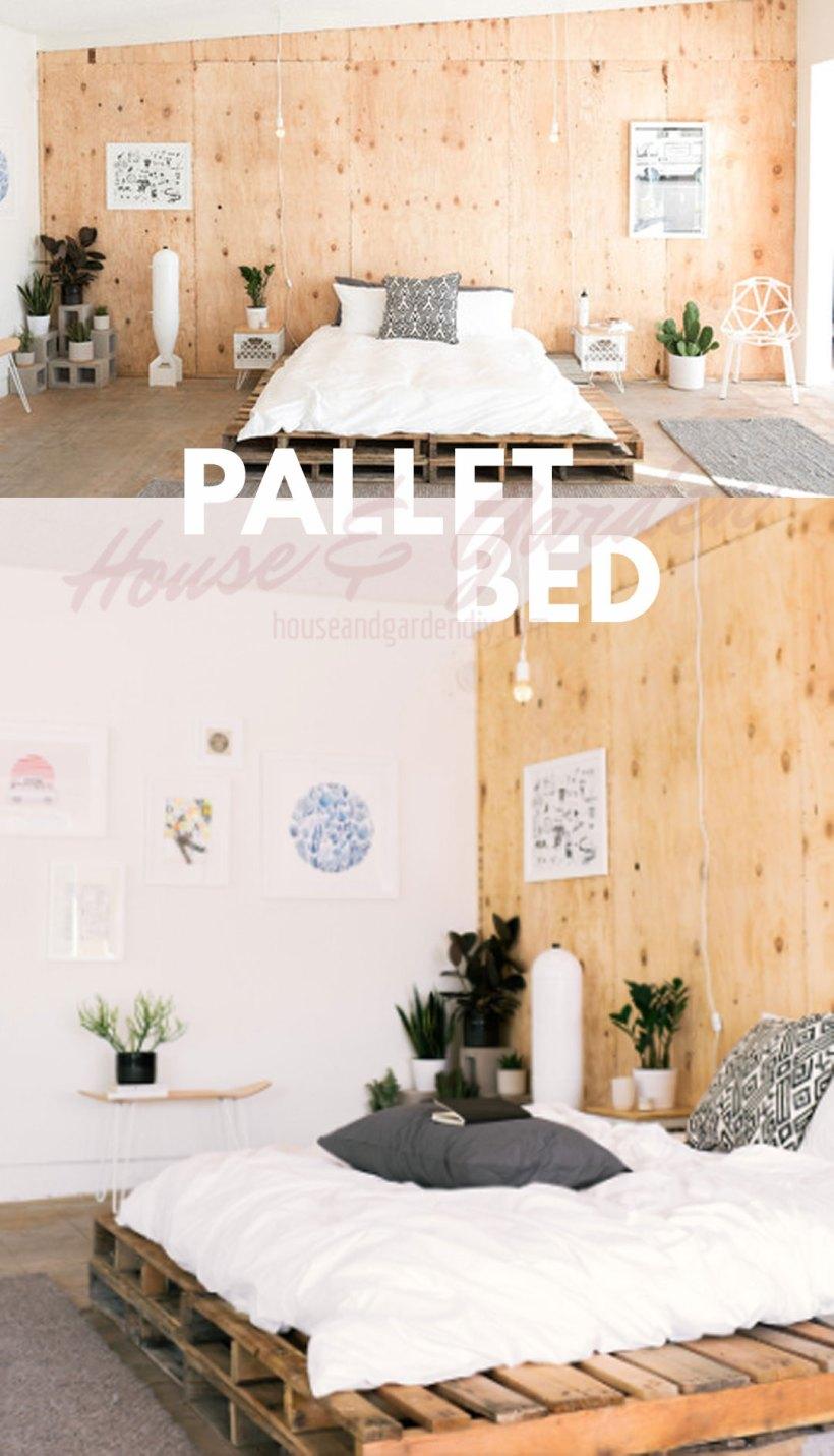 como hacer cama de palet