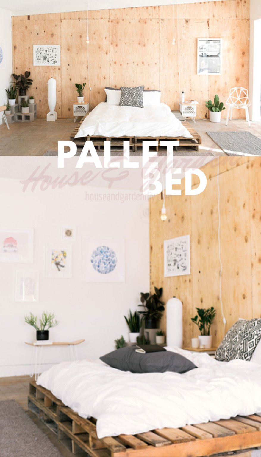 how to make pallet bed