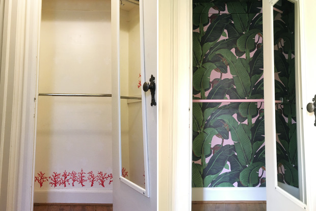 How To Wallpaper Your Closet House Home