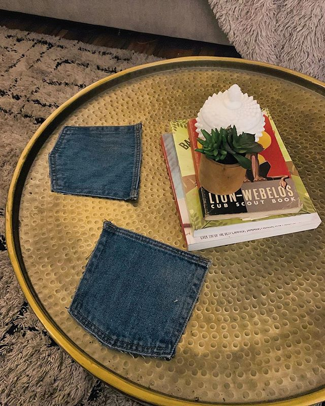 DIY Blue Jean Denim Coasters