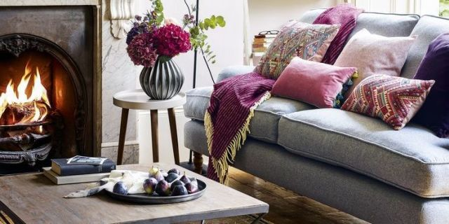 Plum Living Room Decor Interesting Ideas Purple