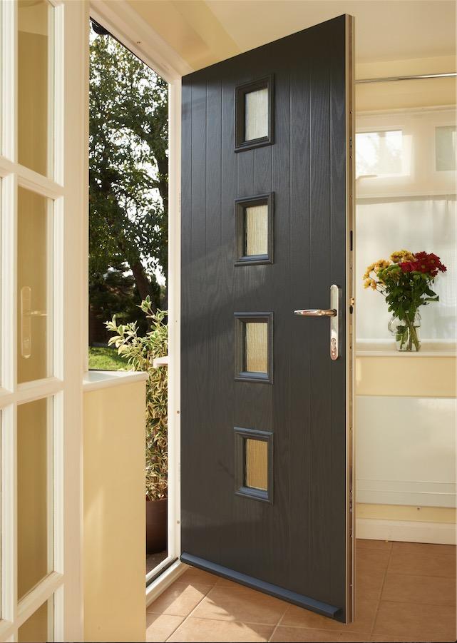 Anglian Home Improvements - black composite door