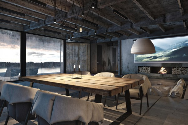 Marvelous Industrial Interior With Exposed Ceiling And Glass Flooring HouseBeauty