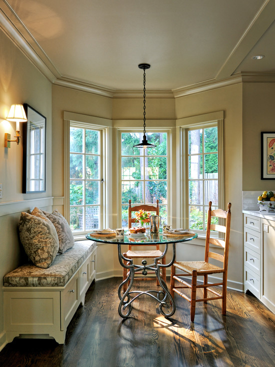 Elegant Kitchen Bench With Storage To Provide A Seat And