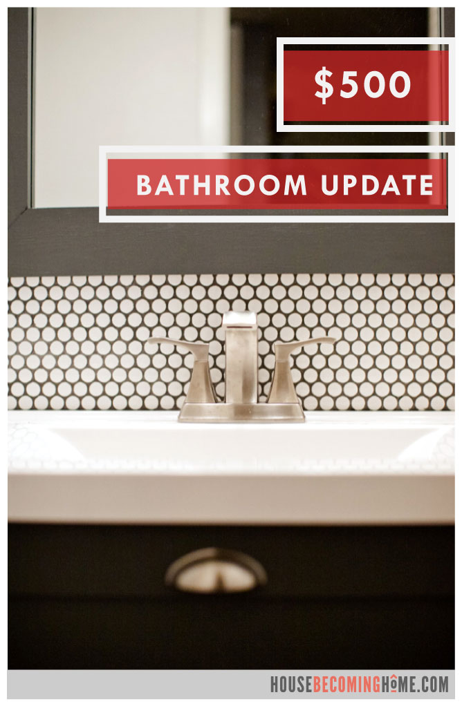 Budget Modern Bathroom Update