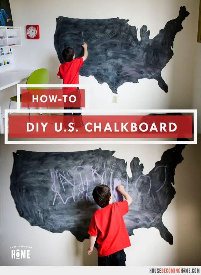 How To Make a U.S. Chalkboard
