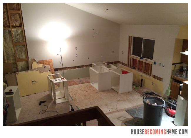 DIY Kitchen Reno demolition