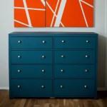 DIY simple 8 drawer dresser blue modern