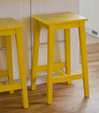 Ikea Bosse Kitchen Island Bar Stool painted yellow