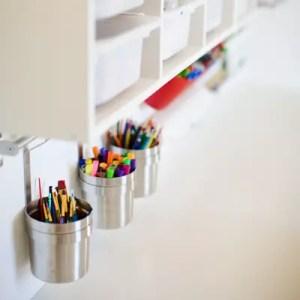 children craft room makeover organized