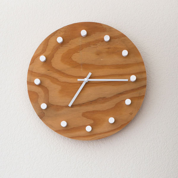 DIY clock made from scrap plywood in modern style