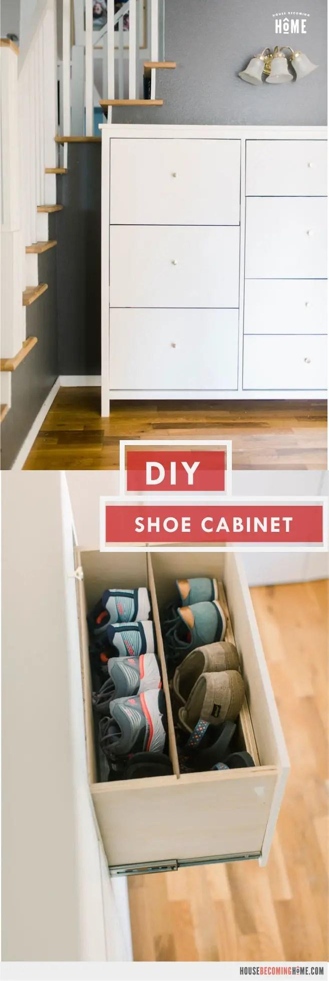 DIY Shoe Cabinet Tutorial