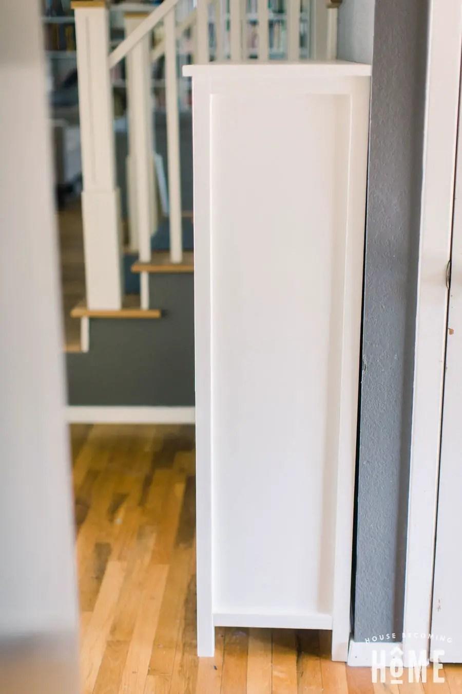 DIY Shoe Cabinet Side View