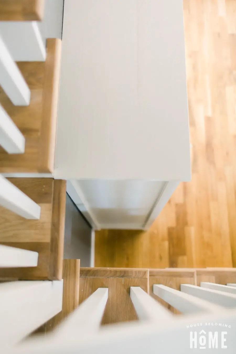DIY Shoe Cabinet Top View