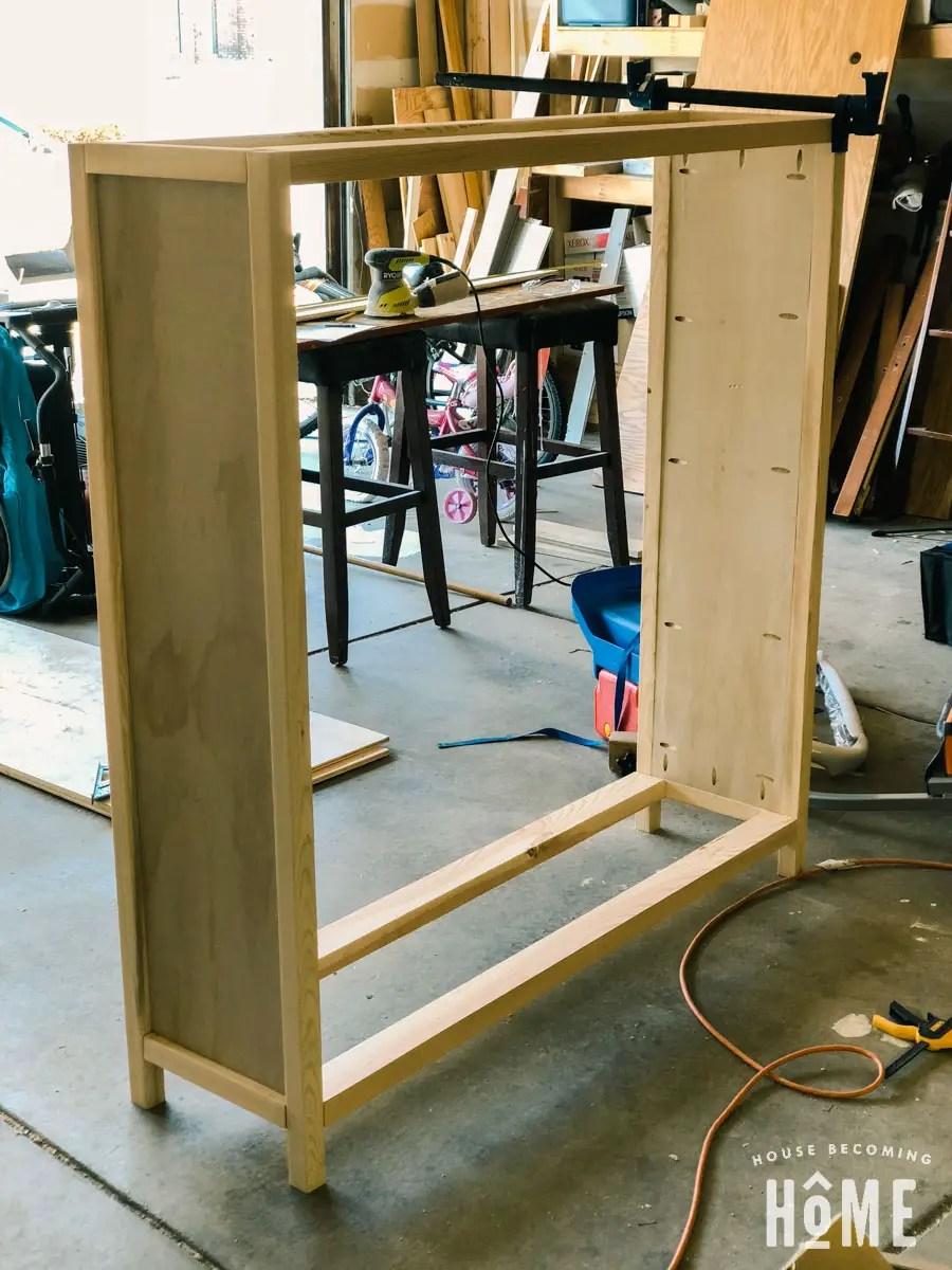 DIY shoe cabinet frame