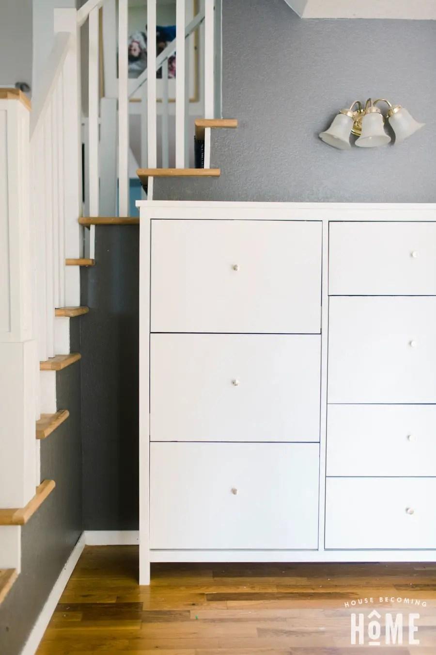 DIY 6 Drawer Shoe Cabinet