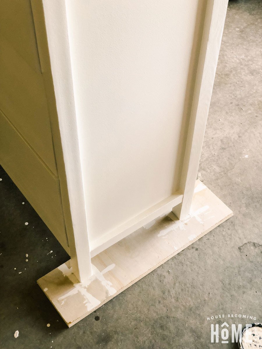 painting diy shoe cabinet
