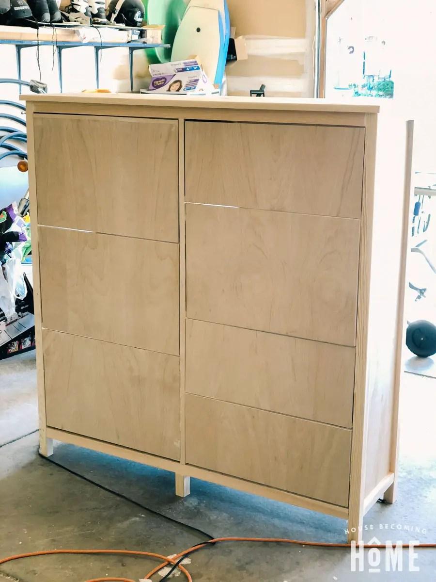 unpainted diy shoe cabinet