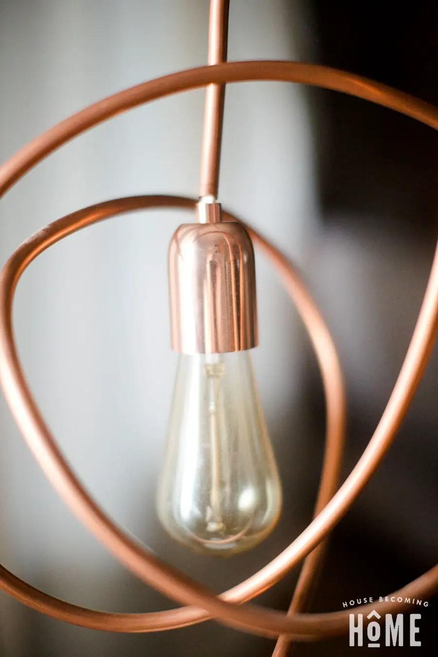 DIY Copper Pipe Light with Edison Bulb