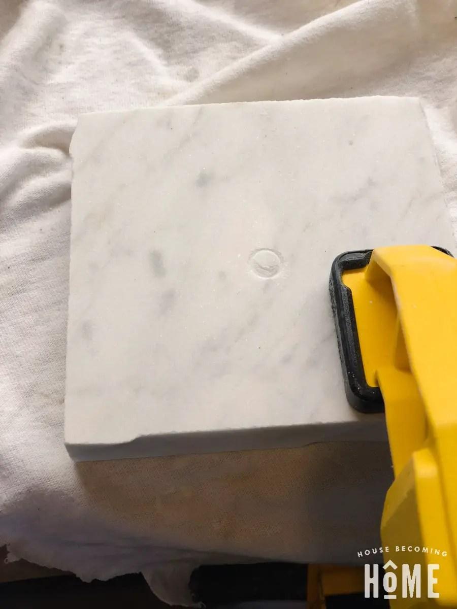 Drilling Marble for light base