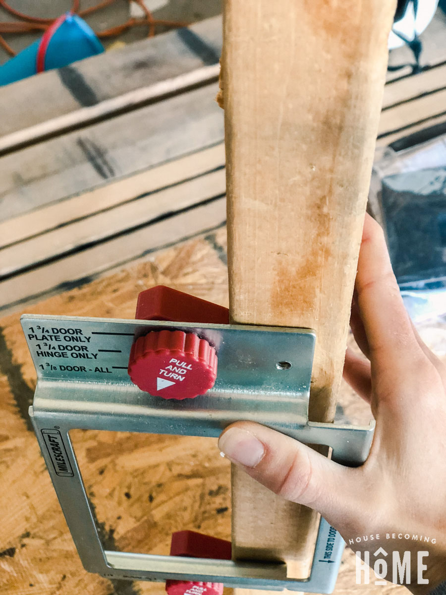 Thickness Settings on Milescraft Mortising Jig for Door Hinges