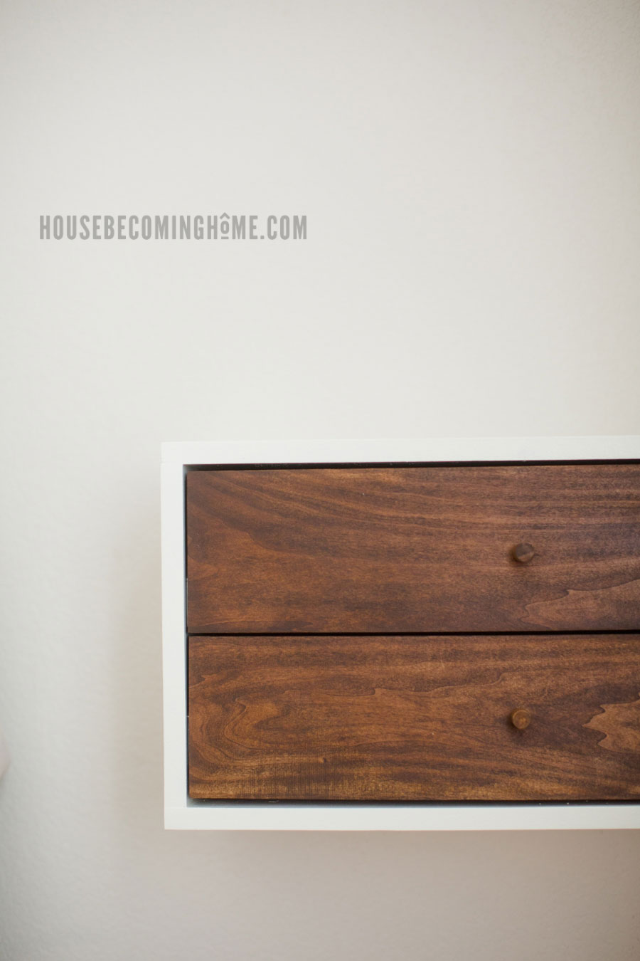 Build A Simple Floating Nightstand House Becoming Home