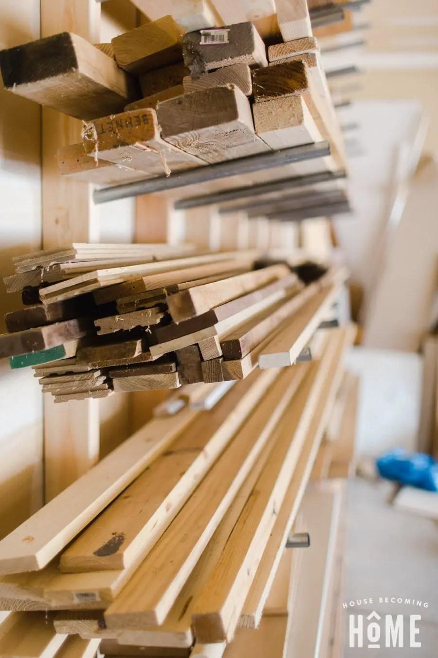 Hardwood on DIY Lumber Rack