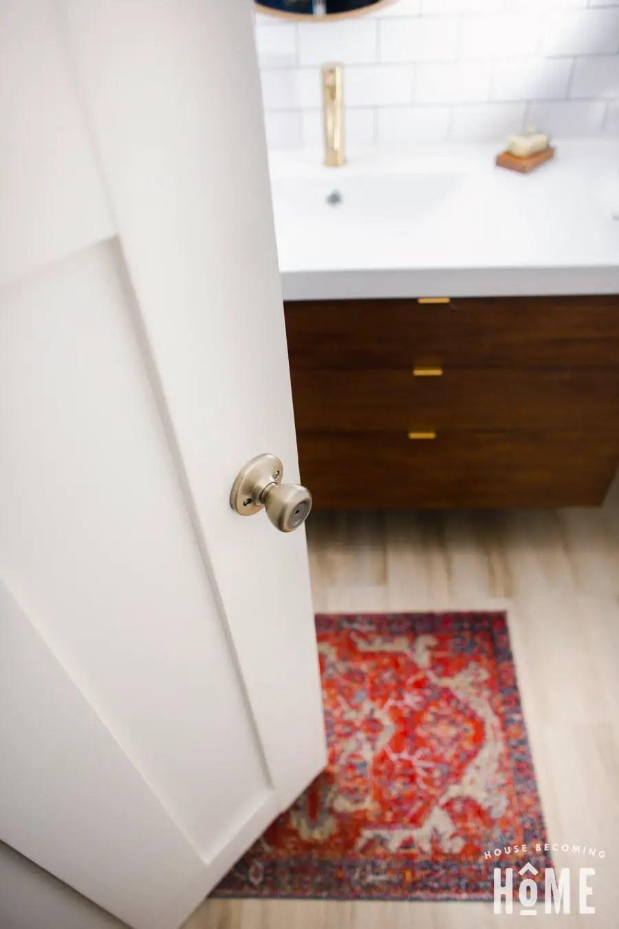 Shaker Style DIY Bathroom Door