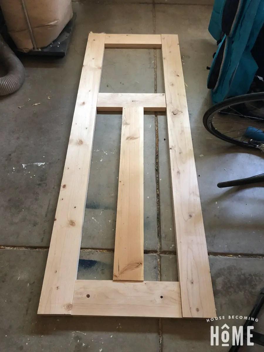 DIY Craftsman Door from 2x6s