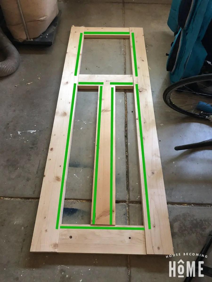 Where to Make Slots in DIY 3-Panel Shaker Door