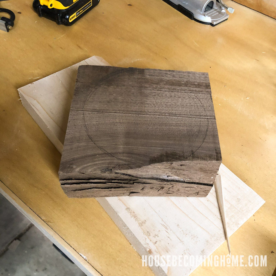 Walnut Scrap to Make a Tapered Wooden Cake Stand Base