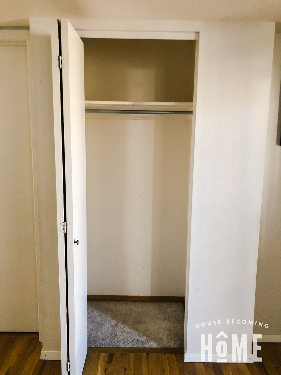 Empty Coat Closet Before Reorganization