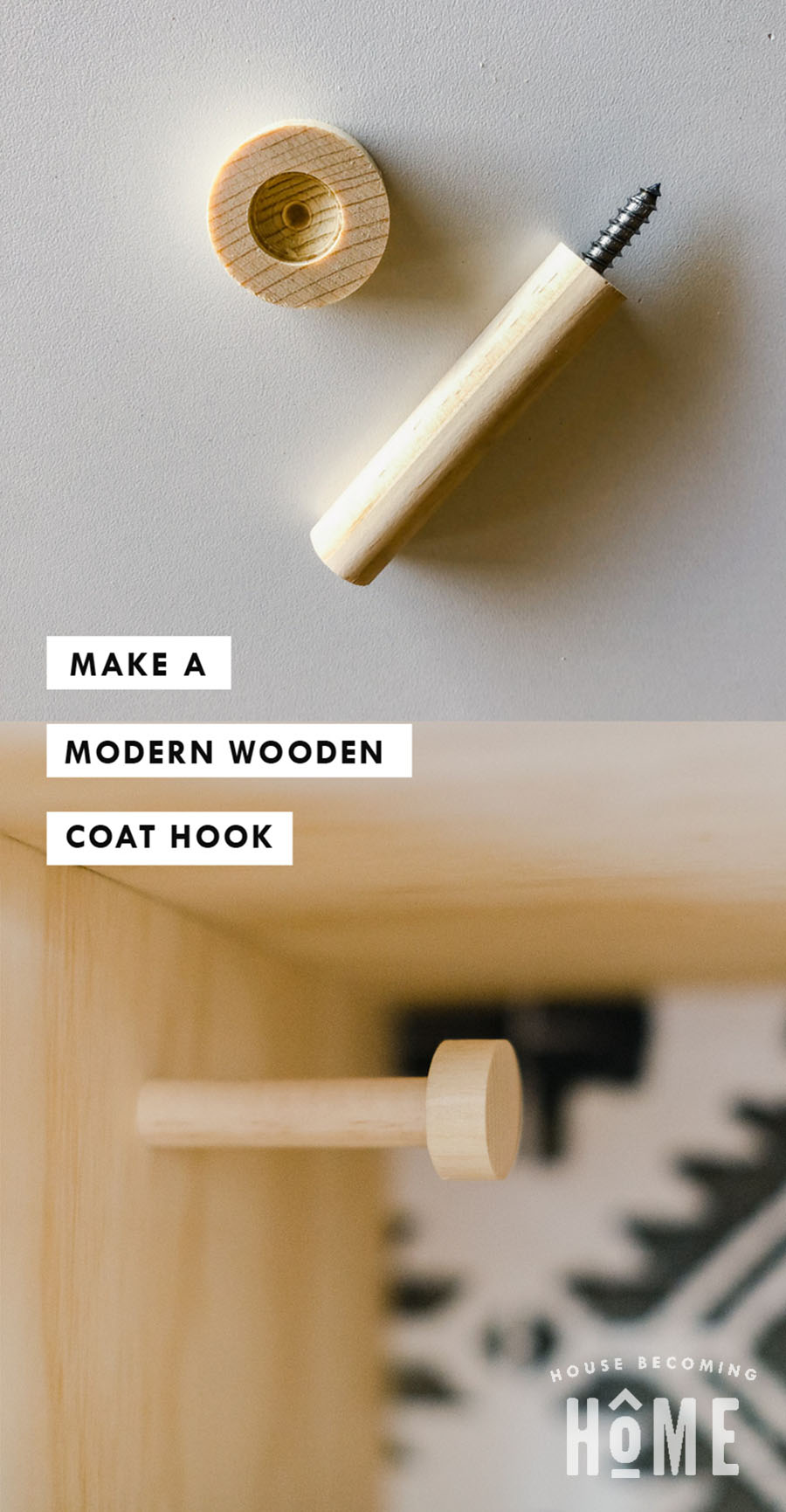 Make a Modern Wooden Coat Hook