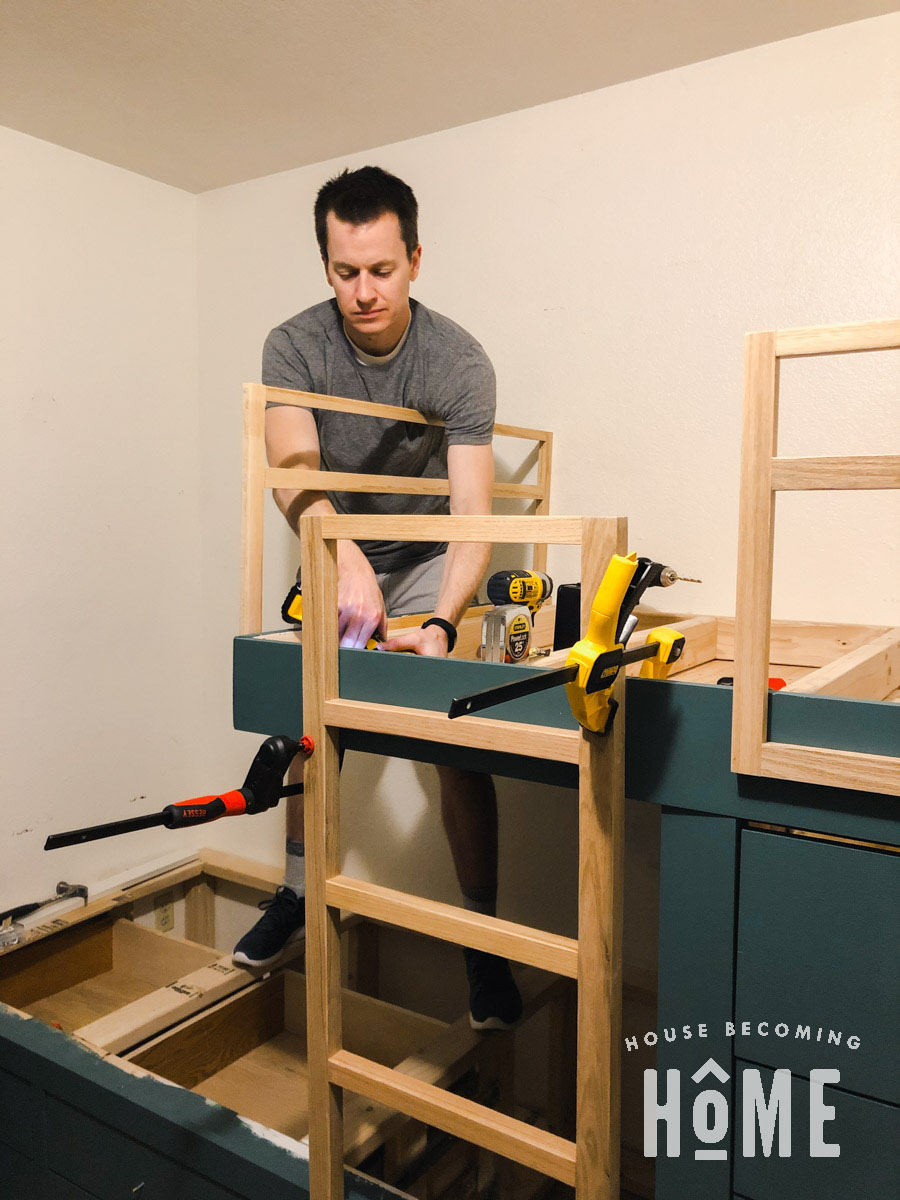 Attaching Ladder to Built in Bunk Beds At Top_