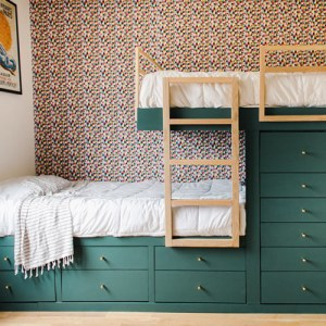 DIY Offset Built in Bunk Beds